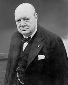 Der mit Kalergie befreundete Büttel und Mischlingsjude Winston Churchill