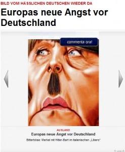 Ob Kohl oder Merkel... alle Deutschen sind Hitler und wollen das Vierte Reich errichten...