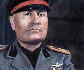 Der Faschismus geht auf Benito Mussolini zurück.