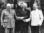 Die Massenmörder Churchill, Truman und Stalin auf der Potsdamer Konferenz.